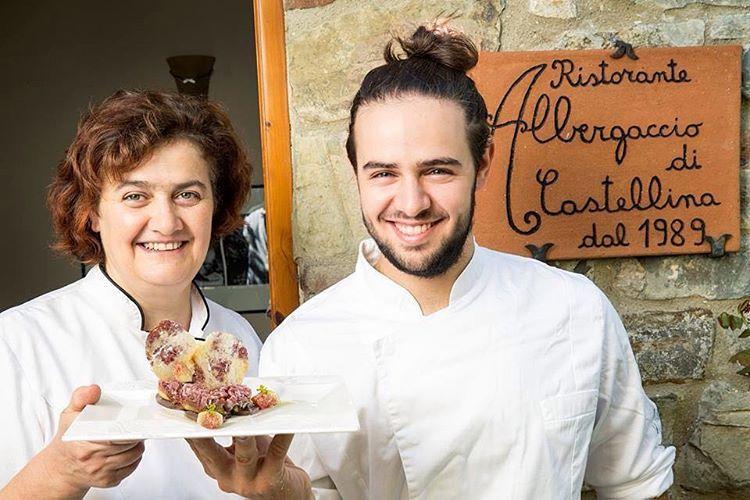 Gli Chef del ristorante albergaccio di Castellina in chianti (siena)