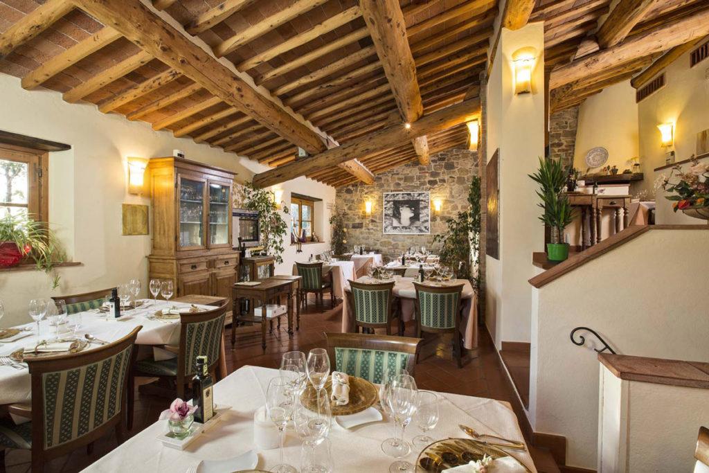 Sala Borea del Ristorante Albergaccio, vista tavoli